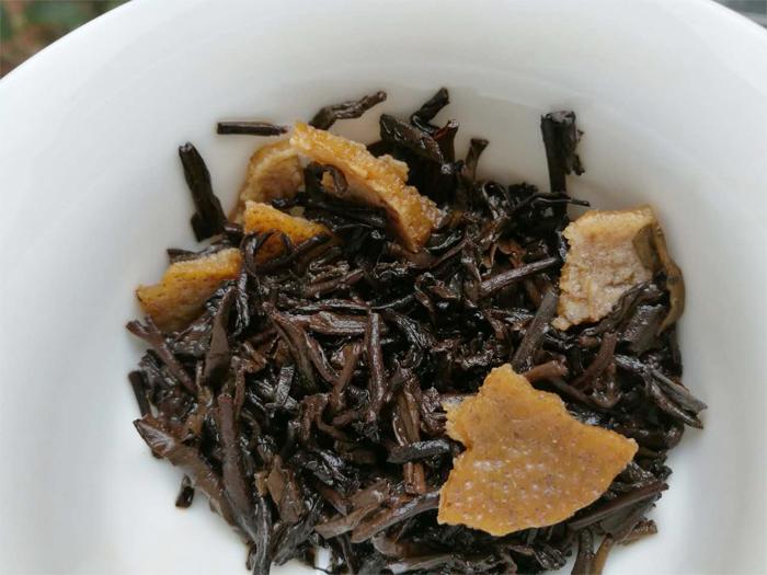 柑普茶 陳皮普洱茶 2017新會柑普茶 陳年普洱茶 700克